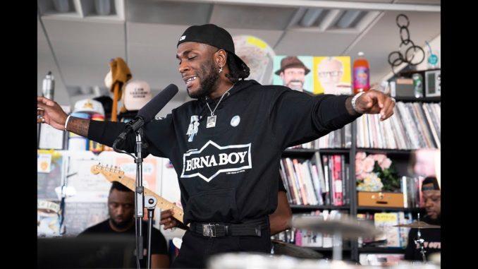 Grammy Award Nominated Artist, Burna Boy Debuts At Npr-tiny Desk Concert