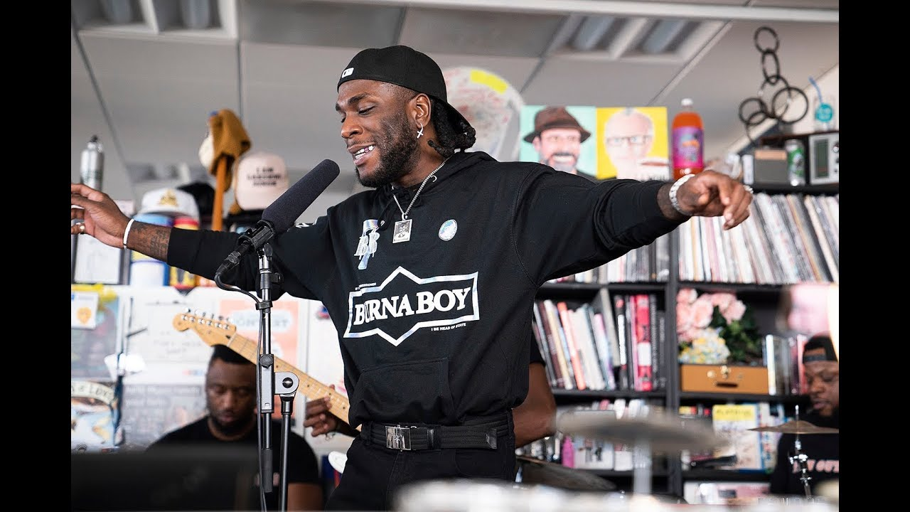 Grammy Award Nominated Artist, Burna Boy Debuts At Npr-tiny Desk Concert