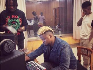 Tiwa Savage Visits Naira Marley And Rexxie In The Studio