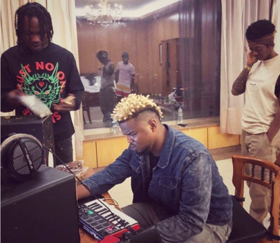 Tiwa Savage Visits Naira Marley And Rexxie In The Studio