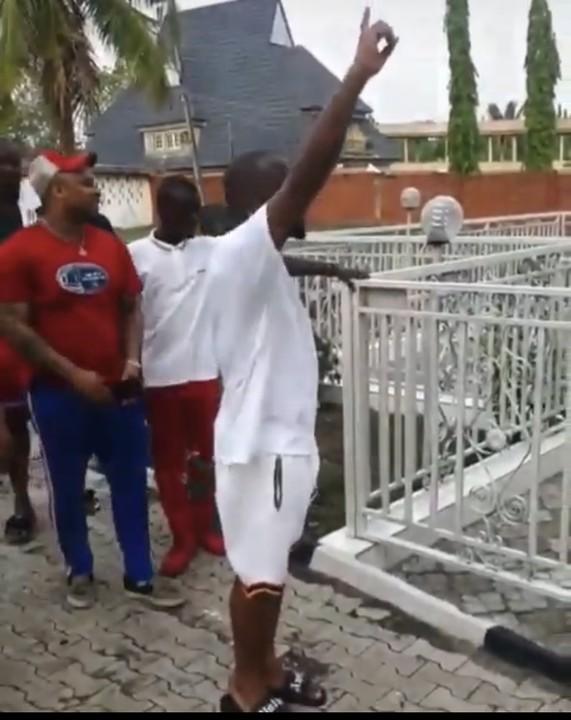 Davido Visits His Late Uncle, Isiaka Adeleke's Grave, Pays Homage (Video)