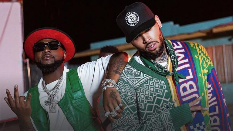See The Crazy Moment Davido Bring Out Chris Brown On Stage (Video)