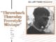 DJ Latitude - ThrowBack Thursday Freestyle Mixtape