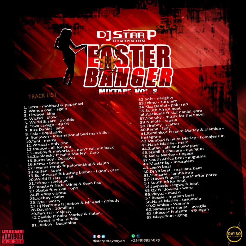 Dj Star P (Ota YonYon) – Easter Banger Mixtape