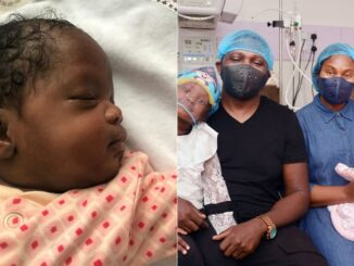 Rapper, IllBliss and wife welcome a newborn baby girl, Kachimsideh (Photos)