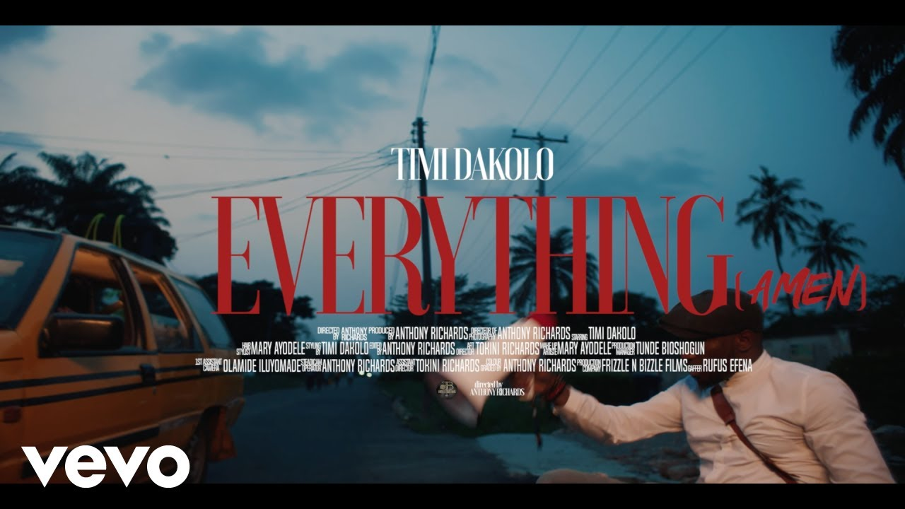 VIDEO: Timi Dakolo – Everything (Amen)