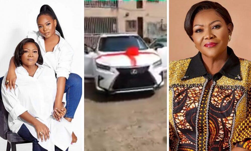 Yemi Alade gifts mum a Lexus SUV on her birthday